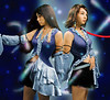 FFx2 Lenne  and Yuna : This is probably the single most intensive project i've done to date.  From the details of the shooting to the amount of photoshop.  Lots of Liquify was used, because the CGI characters simply were posed in inhuman ways.